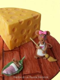 livello base - fetta di torta con topolini